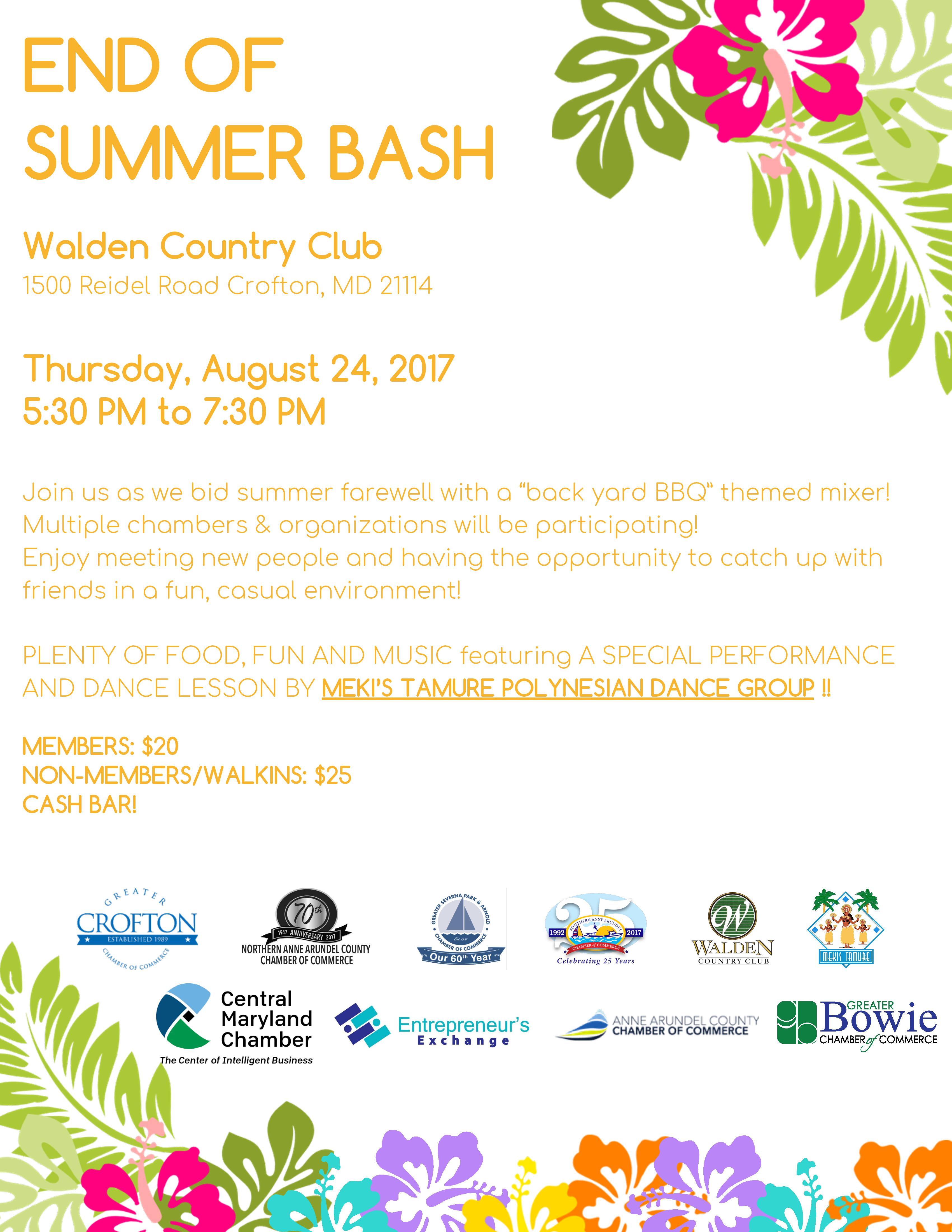 Multi Chamber End of Summer Bash